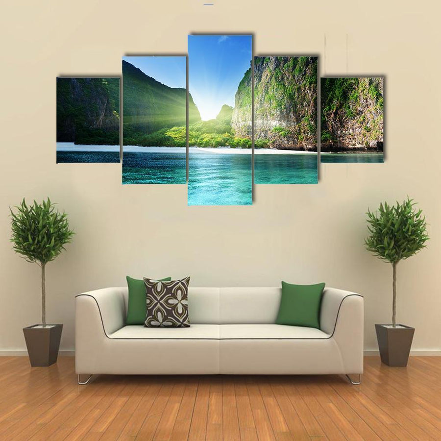 Sunrise At Maya Bay Canvas Panel Painting Tiaracle
