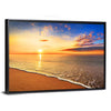 Sunrise On The Beach Multi Panel Canvas Wall Art-Tiaracle