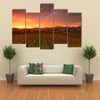 Sunrise Over Vineyards Of Napa Valley Multi Panel Canvas Wall Art 5 Pop / Small / Gallery Wrap Tiaracle