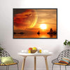 Sunset At Fantasy Planet Multi Panel Canvas Wall Art-Tiaracle