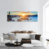 Sunset At Lake Tahoe Panoramic Canvas Wall Art Tiaracle