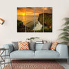 Sunset At Uluwatu Temple Bali Canvas Wall Art-4 Horizontal-Small-Gallery Wrap-Tiaracle