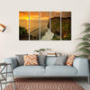 Sunset At Uluwatu Temple Bali Canvas Wall Art-5 Horizontal-Small-Gallery Wrap-Tiaracle