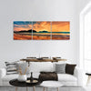 sunset on the beach of Hainan Island Panoramic Canvas Wall Art Tiaracle