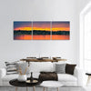Sunset over Lake in Bemidji Panoramic Canvas Wall Art Tiaracle