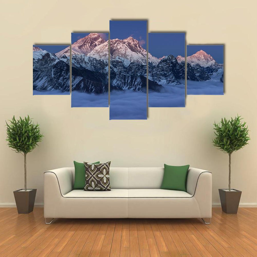 Sunset Over Mount Everest Multi Panel Canvas Wall Art 1 Piece / Medium / Canvas Tiaracle