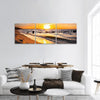 Sunset Over The Baltic Sea Beach Panoramic Canvas Wall Art Tiaracle