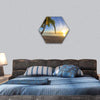 Sunset View At Tropical Fiji Island Hexagonal Canvas Wall Art 1 Hexa / Small / Gallery Wrap Tiaracle
