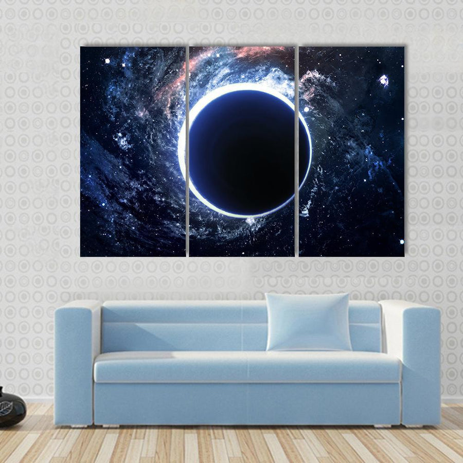 Supermassive Black Hole Multi Panel Canvas Wall Art 3 Pieces / Small / Canvas Tiaracle