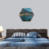 Sutomore Night View From The Mountain Hexagonal Canvas Wall Art 1 Hexa / Small / Gallery Wrap Tiaracle