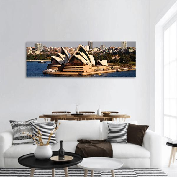 Sydney City Skyline Panoramic Canvas Wall Art 3 Piece / Small Tiaracle