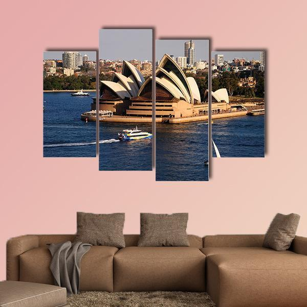 Sydney City Skyline With  Opera House Multi Panel Canvas Wall Art 3 Pieces / Small / Canvas Tiaracle
