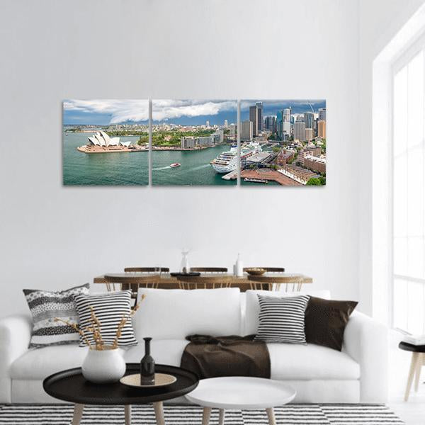 Sydney Harbour Area Panoramic Canvas Wall Art Tiaracle