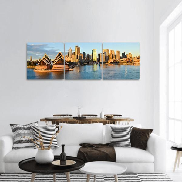 Sydney Opera House and City Panoramic Canvas Wall Art Tiaracle
