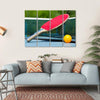 Table Tennis Racket And Ball On Net Multi Panel Canvas Wall Art 4 Horizontal / Small / Gallery Wrap Tiaracle