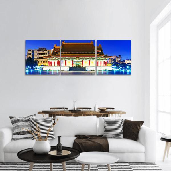 Taipei National Theater And Concert Hall Panoramic Canvas Wall Art 1 Piece / Small Tiaracle