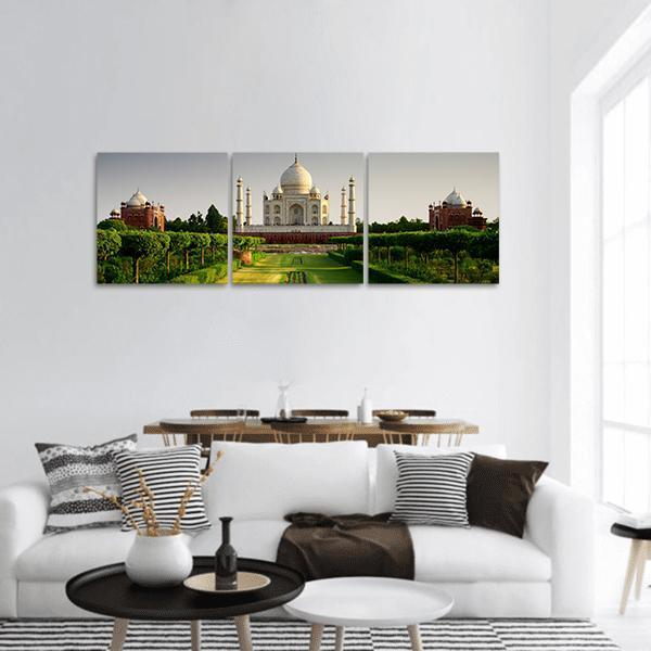 Taj Mahal From The Garden Side Panoramic Canvas Wall Art Tiaracle