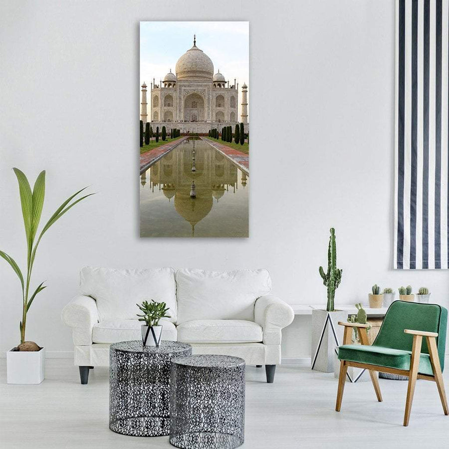 Taj Mahal In Agra India Vertical Canvas Wall Art 3 Vertical / Small / Gallery Wrap Tiaracle