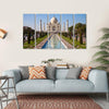 Taj Mahal In India Multi Panel Canvas Wall Art 5 Horizontal / Small / Gallery Wrap Tiaracle