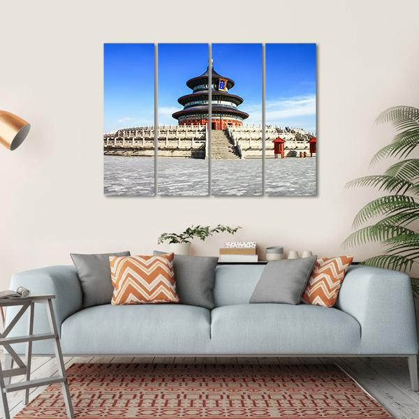 Temple Of Heaven With Blue Sky In Beijing Multi Panel Canvas Wall Art-1 Piece-Small-Gallery Wrap-Tiaracle