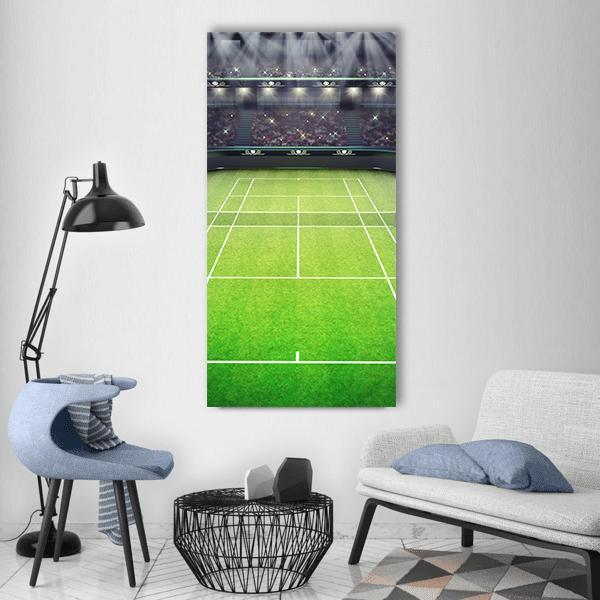 Tennis Court Vertical Canvas Wall Art 3 Vertical / Small / Gallery Wrap Tiaracle