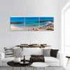 The Beach At Skagen Panoramic Canvas Wall Art 3 Piece / Small Tiaracle