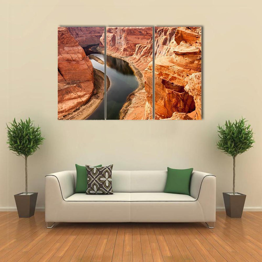 The Colorado River Meanders, Grand Canyon Canvas Panel Painting Tiaracle