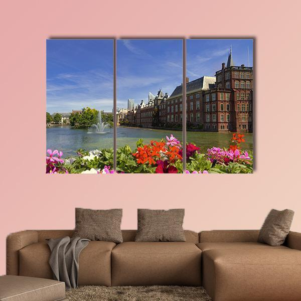 The Dutch Parliament In Netehrlands Multi Panel Canvas Wall Art 5 Pop / Medium / Canvas Tiaracle