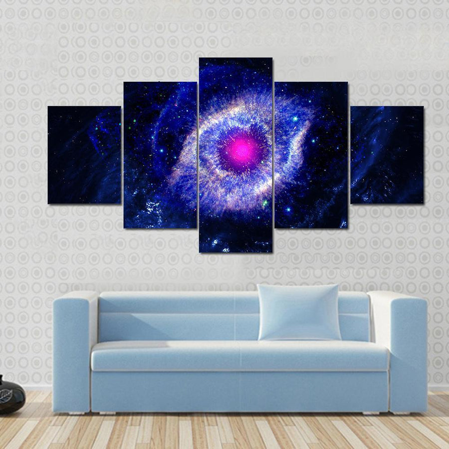 The Eye Of God Nebula In Deep Space Multi Panel Canvas Wall Art 3 Pieces / Small / Canvas Tiaracle