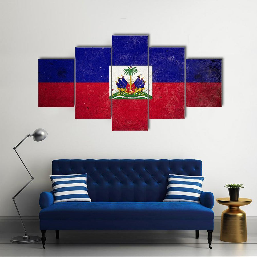 The Flag Of Haiti Multi Panel Canvas Wall Art 3 Pieces / Medium / Canvas Tiaracle