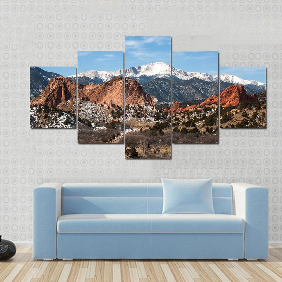 The Garden Of The Gods Park, Colorado Springs, Colorado Canvas Panel Painting Tiaracle