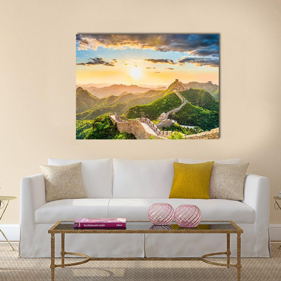The Great Wall of China Multi Panel Canvas Wall Art Tiaracle