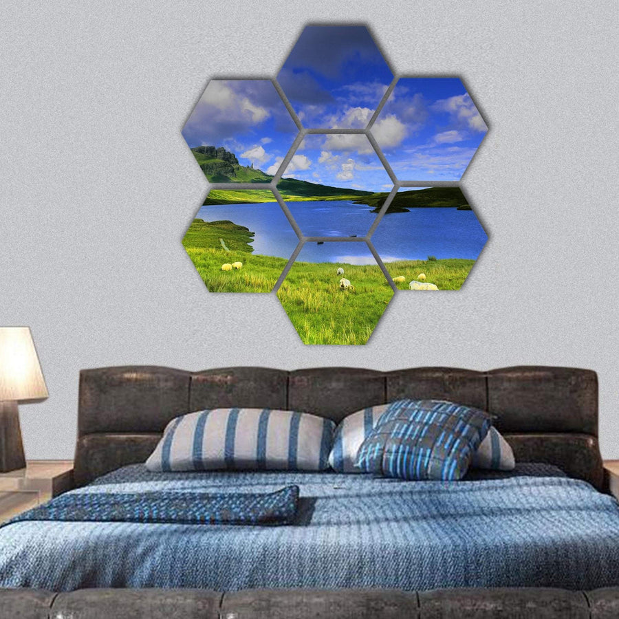 The Isle Of Skye In Scotland Hexagonal Canvas Wall Art 1 Hexa / Small / Gallery Wrap Tiaracle