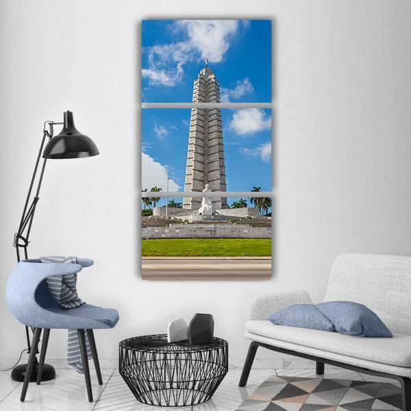 The Jose Marti Memorial Monument Vertical Canvas Wall Art-1 Vertical-Small-Gallery Wrap-Tiaracle