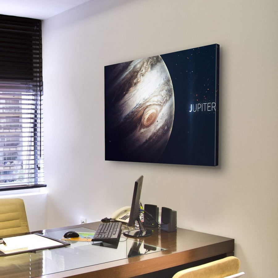 The Jupiter Giant Red Spot Canvas Panel Painting Tiaracle