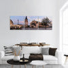 The Main Square Of Krakow Poland Panoramic Canvas Wall Art 3 Piece / Small Tiaracle