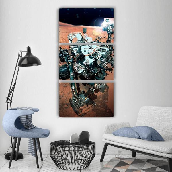 The Mars Rover Vertical Canvas Wall Art 1 Vertical / Small / Gallery Wrap Tiaracle
