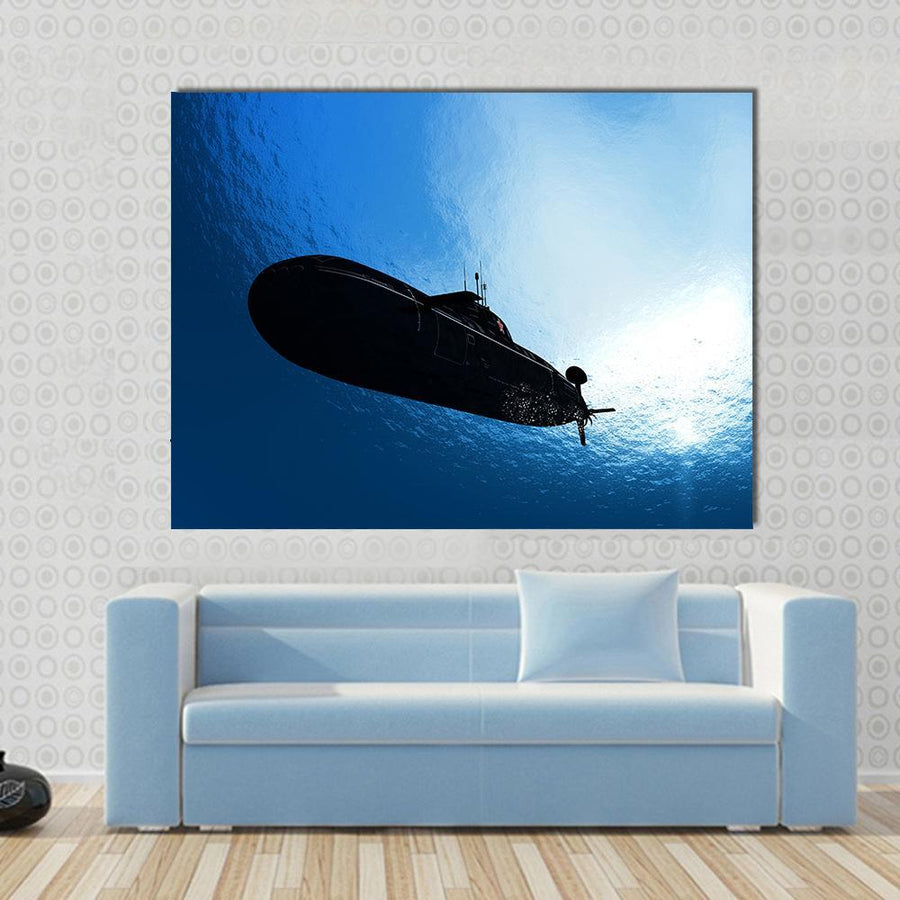 The Military Ship In The Sea Multi Panel Canvas Wall Art-4 Horizontal-Small-Gallery Wrap-Tiaracle