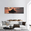 The Military Ship In The Sea Panoramic Canvas Wall Art 1 Piece / Small Tiaracle