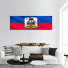 The National Flag Of Haiti Panoramic Canvas Wall Art 1 Piece / Small Tiaracle