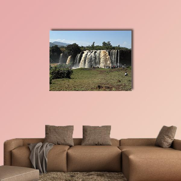 The Nile Waterfall Tisissat In Ethiopia Multi Panel Canvas Wall Art 4 Pieces / Medium / Canvas Tiaracle