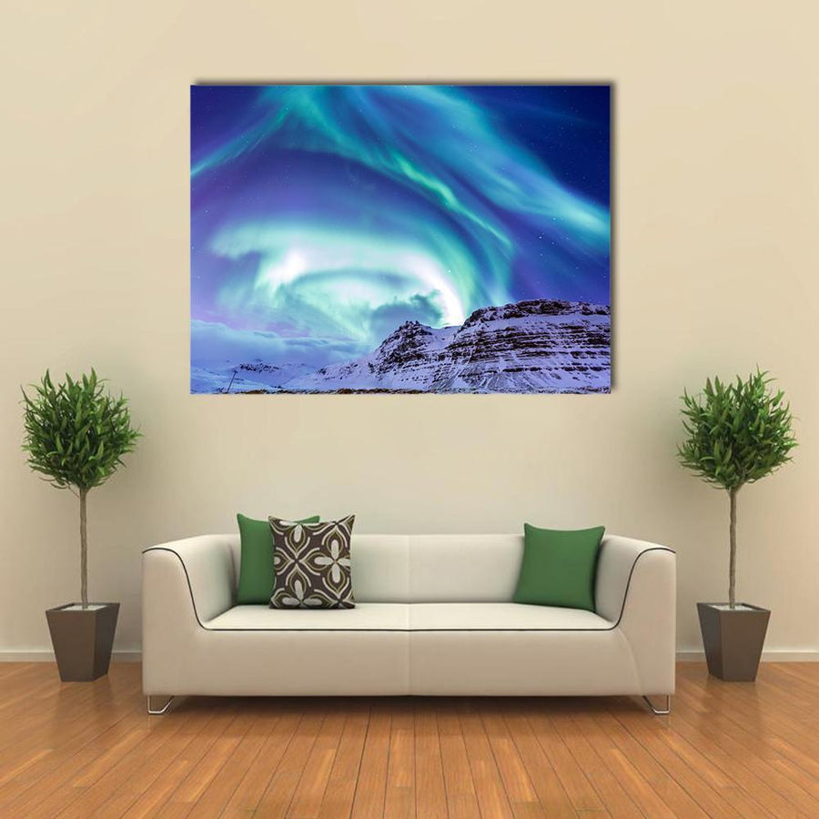 The Northern Light Aurora Borealis At Kirkjufell-5 Horizontal-Small-Gallery Wrap-Tiaracle