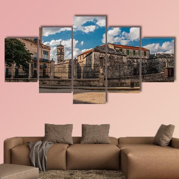 The Old Fortress Castle of Royal Force In Havana Multi Panel Canvas Wall Art 3 Pieces / Small / Canvas Tiaracle