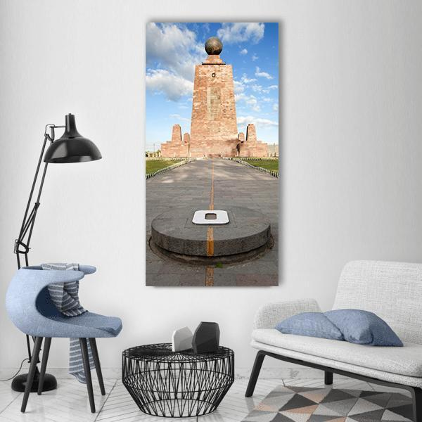 The Pyramidal Monument In Ecuador Vertical Canvas Wall Art 3 Vertical / Small / Gallery Wrap Tiaracle