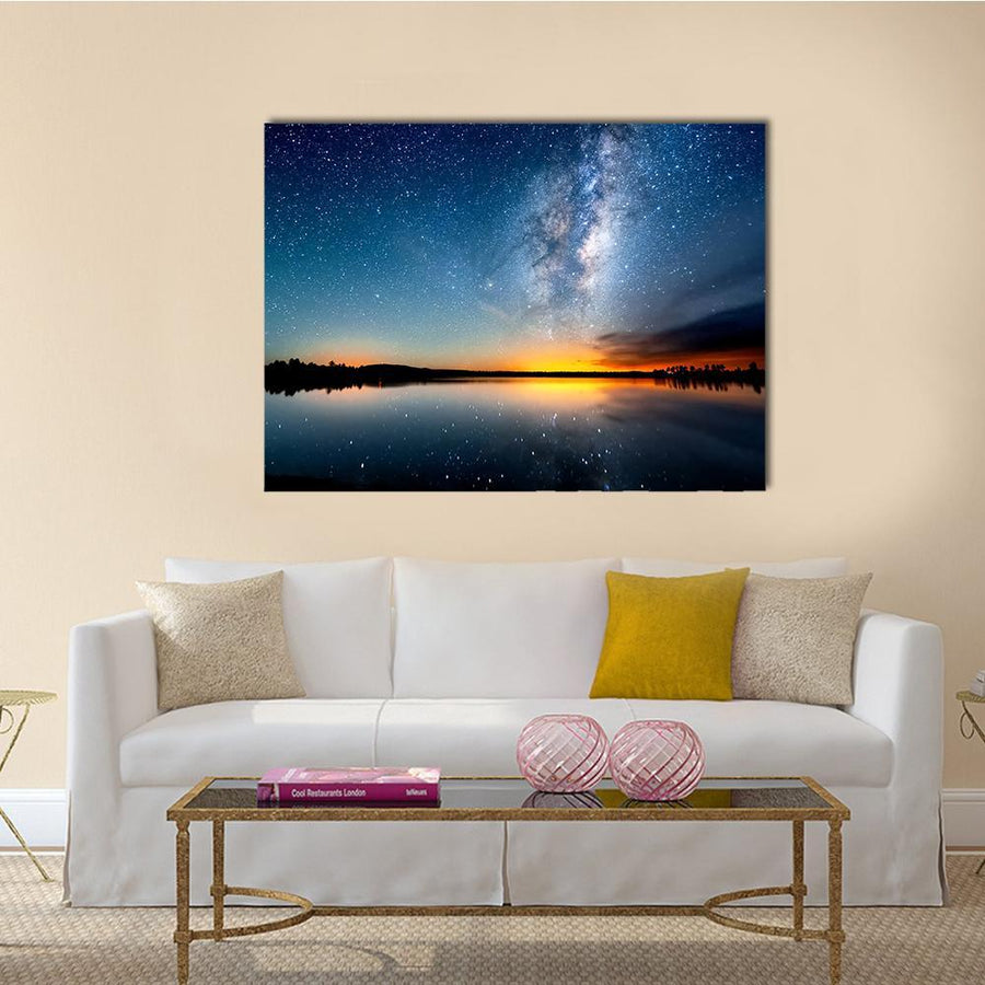 The Starry Sky And Milky Way Multi Panel Canvas Wall Art 5 Pieces(A) / Medium / Canvas Tiaracle