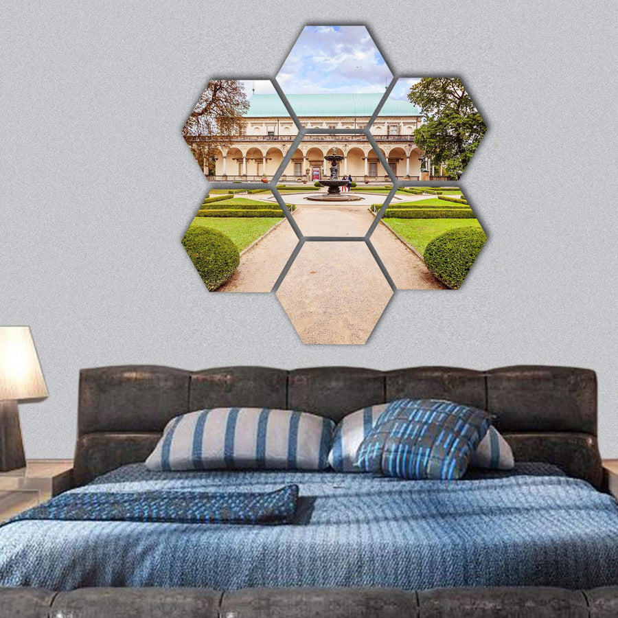 The Summer Palace Of Queen Anne Hexagonal Canvas Wall Art 1 Hexa / Small / Gallery Wrap Tiaracle