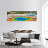 The World Famous Grand Prismatic Spring Panoramic Canvas Wall Art 3 Piece / Small Tiaracle