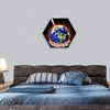Thermometer With Earth In Hand Hexagonal Canvas Wall Art 1 Hexa / Small / Gallery Wrap Tiaracle