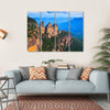 Three Sisters Blue Mountains Multi Panel Canvas Wall Art-4 Horizontal-Small-Gallery Wrap-Tiaracle