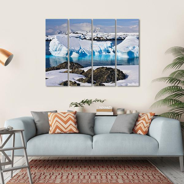 Huge Icebergs In Antarctica Multi Panel Canvas Wall Art Tiaracle